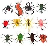 12pcs Children's Model Insect Toys Party Tricks 4-10cm