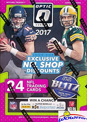 2017 Donruss Optic NFL Football EXCLUSIVE Factory Sealed Retail Box with (6) ROOKIES & (6) PARALLELS/INSERTS! Look for Rookies & Autographs of Deshaun Watson, Alvin Kamara & Many More! WOWZZER! from Wowzzer
