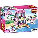 COGO Dream Girls Blocks Educational Toys Pink Beach House Friends Villa Building Blocks for Kids Construction Toys Building Bricks Play Set Compatible with Lego Size 423 Pcs 4515