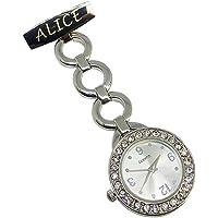 Personalised Engraved Nurse Watch Diamante Fob Carer Graduation Christmas Gift Custom Name