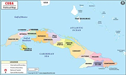 Amazon Com Cuba Political Map 36 W X 21 36 H Office Products