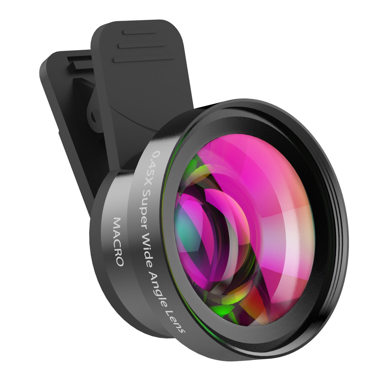 ZPTONE Phone Camera Lens, Cell Phone Camera Lenses 2 in 1 Clip-on iPhone Camera Lens Kit 0.45X Super Wide Angle Lens & 15X Macro Lens for iPhone, Android, Samsung Mobile Phones and Tablets