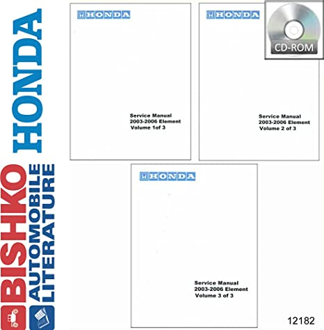amazon com bishko automotive literature 2003 2004 2005 2006 honda rh amazon com 2005 honda element service manual download 2005 honda element service manual pdf