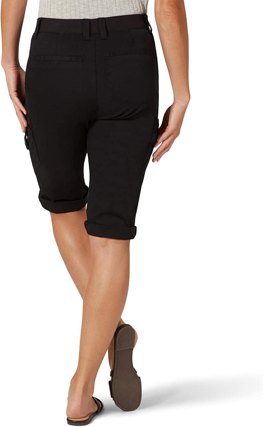 Lee Womens Flex-to-go Relaxed Fit Cargo Skimmer Capri Pant Pants
