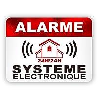 Autocollants dissuasifs Alarme Stickers Alarme sécurité 8x6cm Lot DE 12