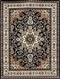 Generations Traditional Isfahan Persian Area Rugs Black 7'10 x 10'5
