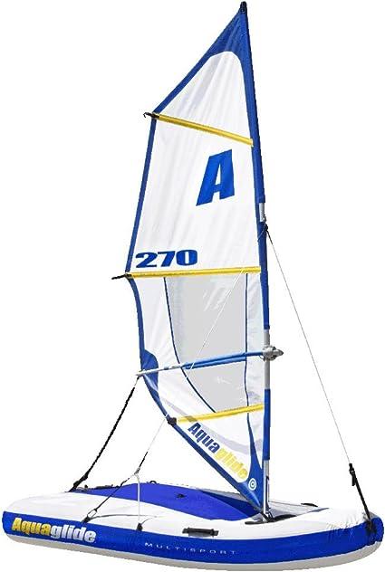 Aquaglide Multisport 270 Gonflable Bateau A Voile Planche A Voile Kayak Et Bouee Tractee Tout En 1 Amazon Fr Sports Et Loisirs