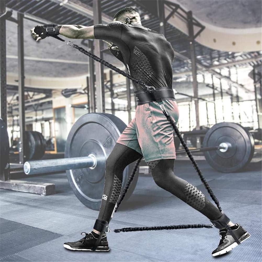 Entrenador de bandas resistencia agilidad y velocidad cuerpo completo 100 lb Conjunto entrenamiento fuerza piernas Poder explosivo con bolsa transporte para Boxeo sentadillas con salto vertical