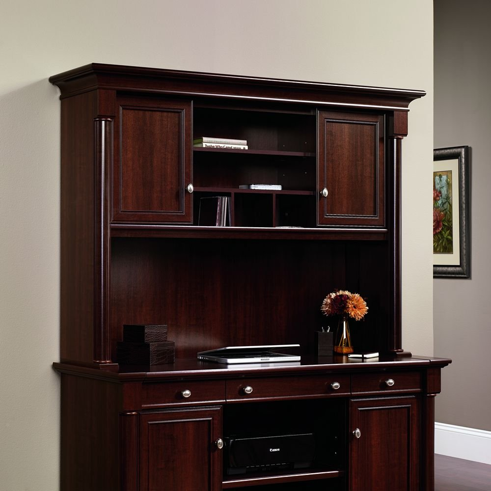 Amazon Sauder Palladia Hutch Does Not Include Desk In Select Cherry Kitchen Dining