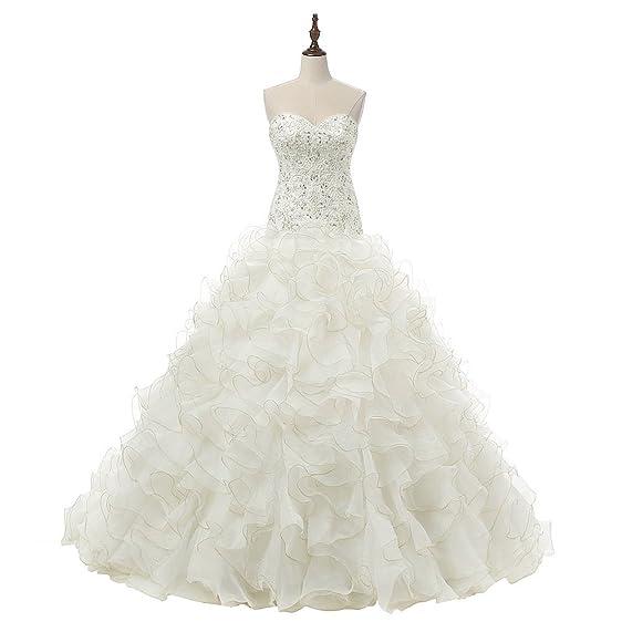 VIVIANSBRIDAL® Luxury Princess Ball Gown Bridal Wedding Dresses ...