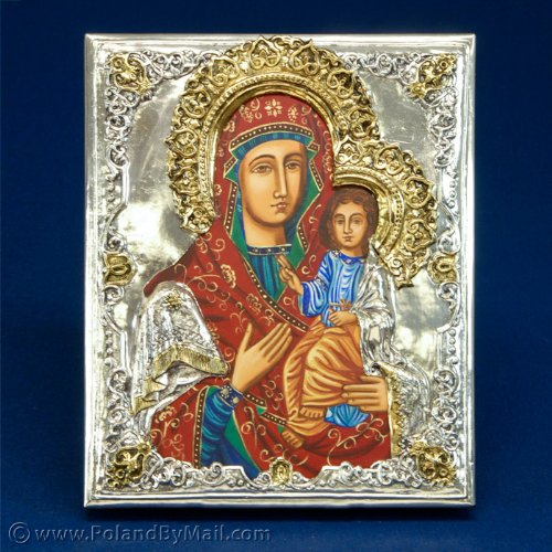 (Silver Plated Icon - The Iviron Virgin)