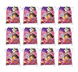 12-Pack Dora the Explorer and Boots Non-Woven Sling Bags