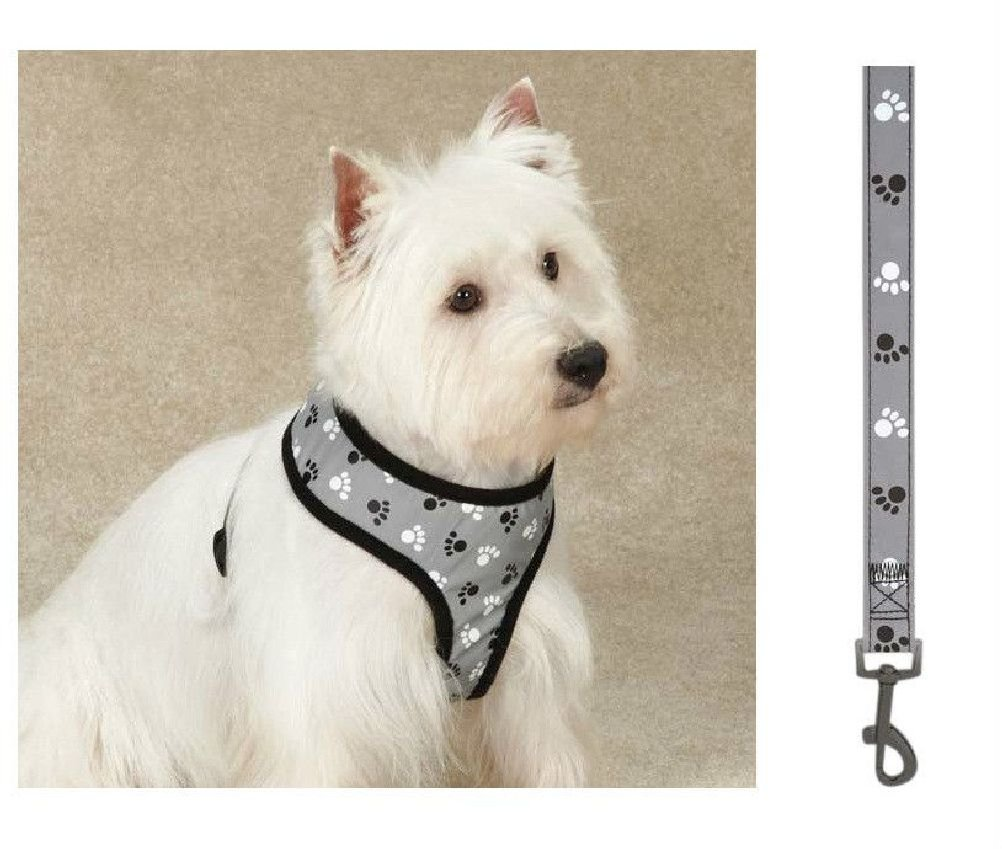 Soft Anti Pull Chest Plate Harness & Lead Combos For Dogs Matching Dog Sets