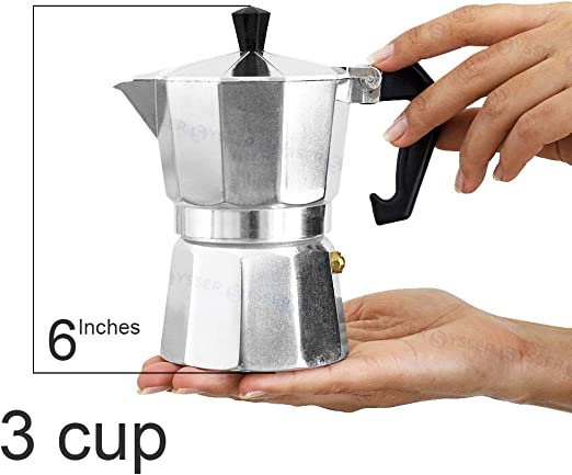 Cafetera de café Espresso Percolator Cubana Italiana 3 6 12 tazas ...