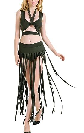 Faldas Mujer Elegante Verano Playa Sin Mangas Halter Espalda ...