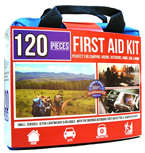 Premium First Aid Medical Kit: Great for Travel, Hiking, Survival, Home, Car, Camping, Pet, Baby Emergencies, Refills, Supplies & Preparation Small Portable Size