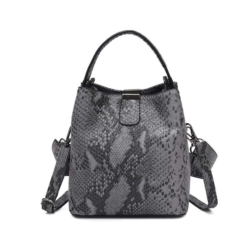 Snakeskin Bucket Purse Bag...