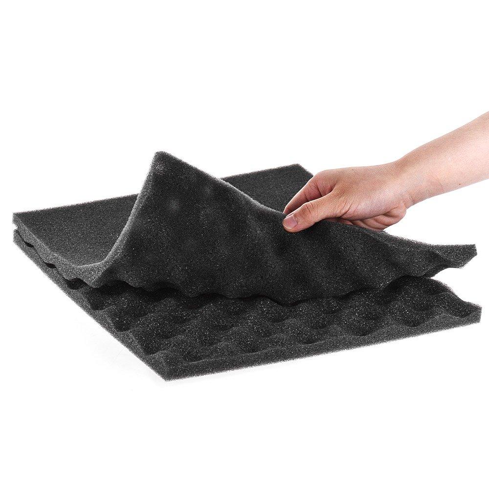 Pack of 12pcs Festnight Muslady Studio Acoustic Foams Panels Sound Insulation Foam 30 30cm// 12 12in