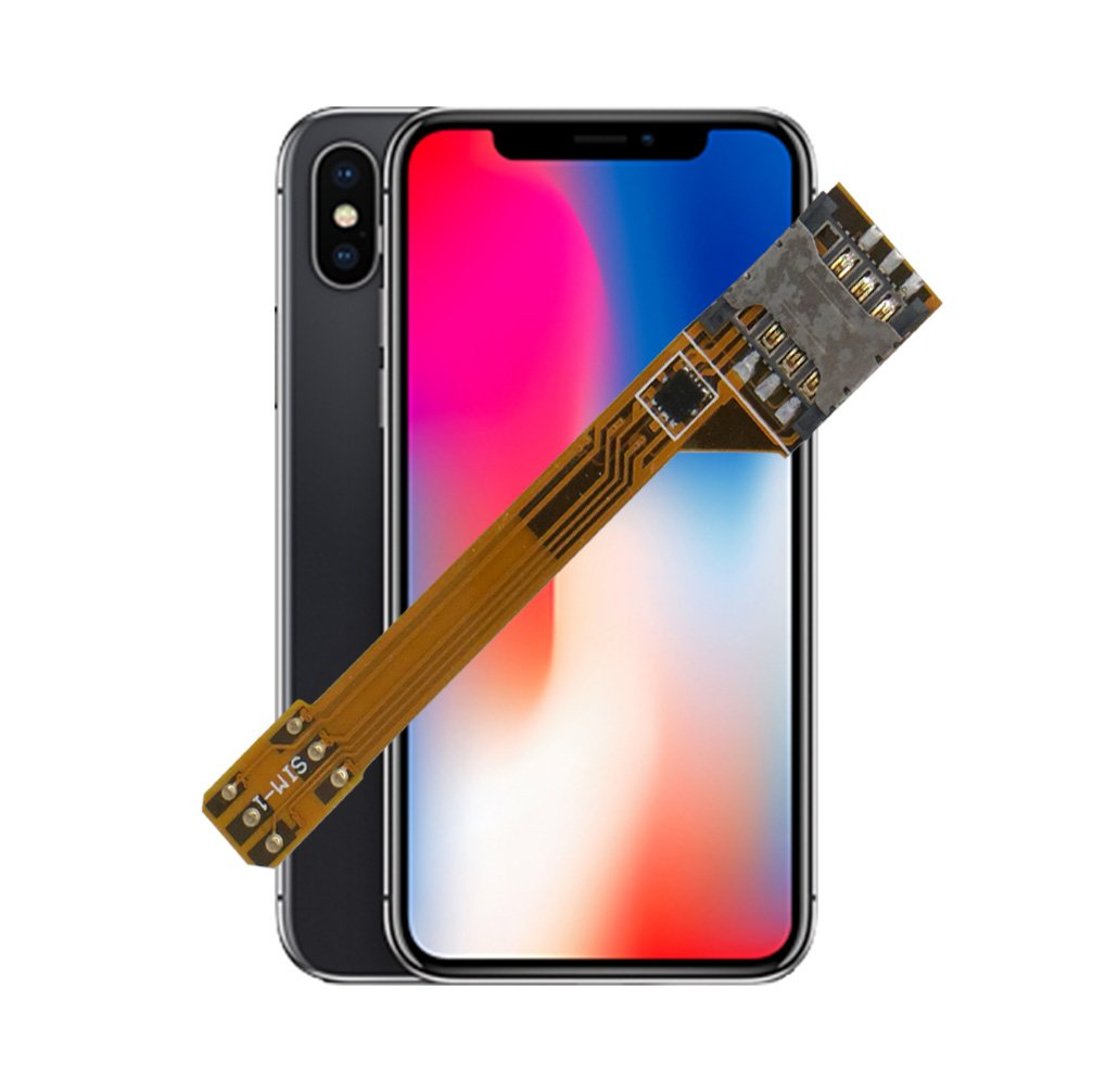 GVKVGIH Dual SIM Adapter Set for iPhoneX, Switch 2 SIM Cards in 1 Phone Dual SIMs Single Standby Adapter