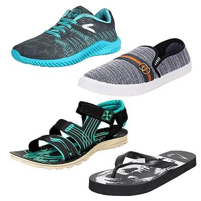 17615aa62 Earton Mens Stylish   Trendy Multicolor Combo Canvas Running Shoes (COMBO -750+1032
