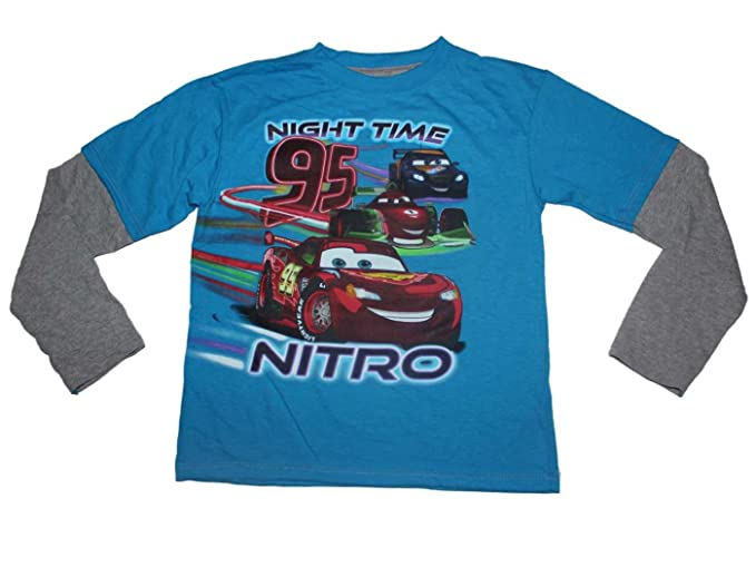 Amazon.com  Disney Pixar Cars Night Time Nitro Boys Long Sleeve ... 2a946bc51
