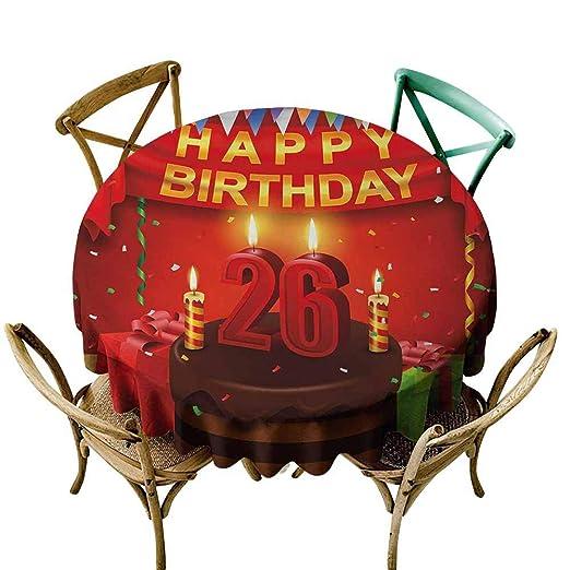 AndyTours Fashions Mantel de 25 cumpleaños para decoración ...