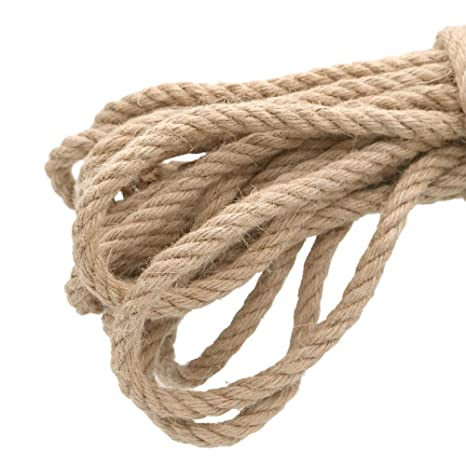 32 Feet 100/% Natural Thick Jute Hemp Rope 12MM Strong String Craft Twine for DIY /& Arts Crafts,Christmas Gift Packing Floristry Bundling KINGLAKE