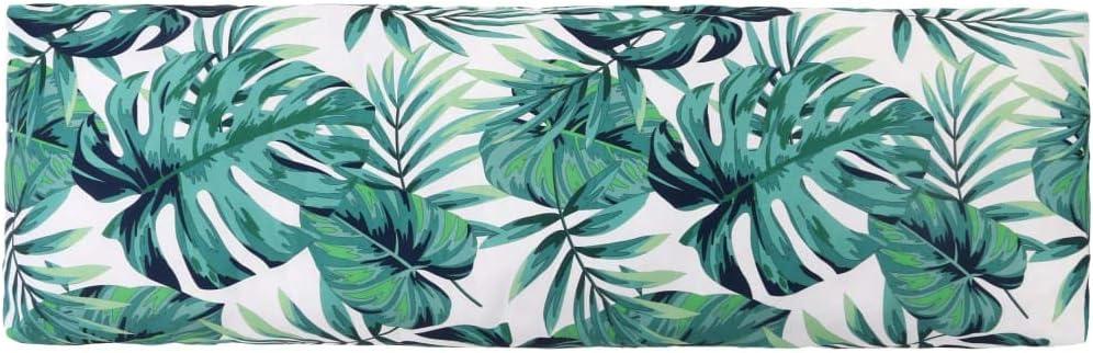 Festnight Cuscino Schienale da Giardino Cuscino per bancale Cuscini per Pallet Divani Seduta Trapuntato PP Verde 120x40x10 cm