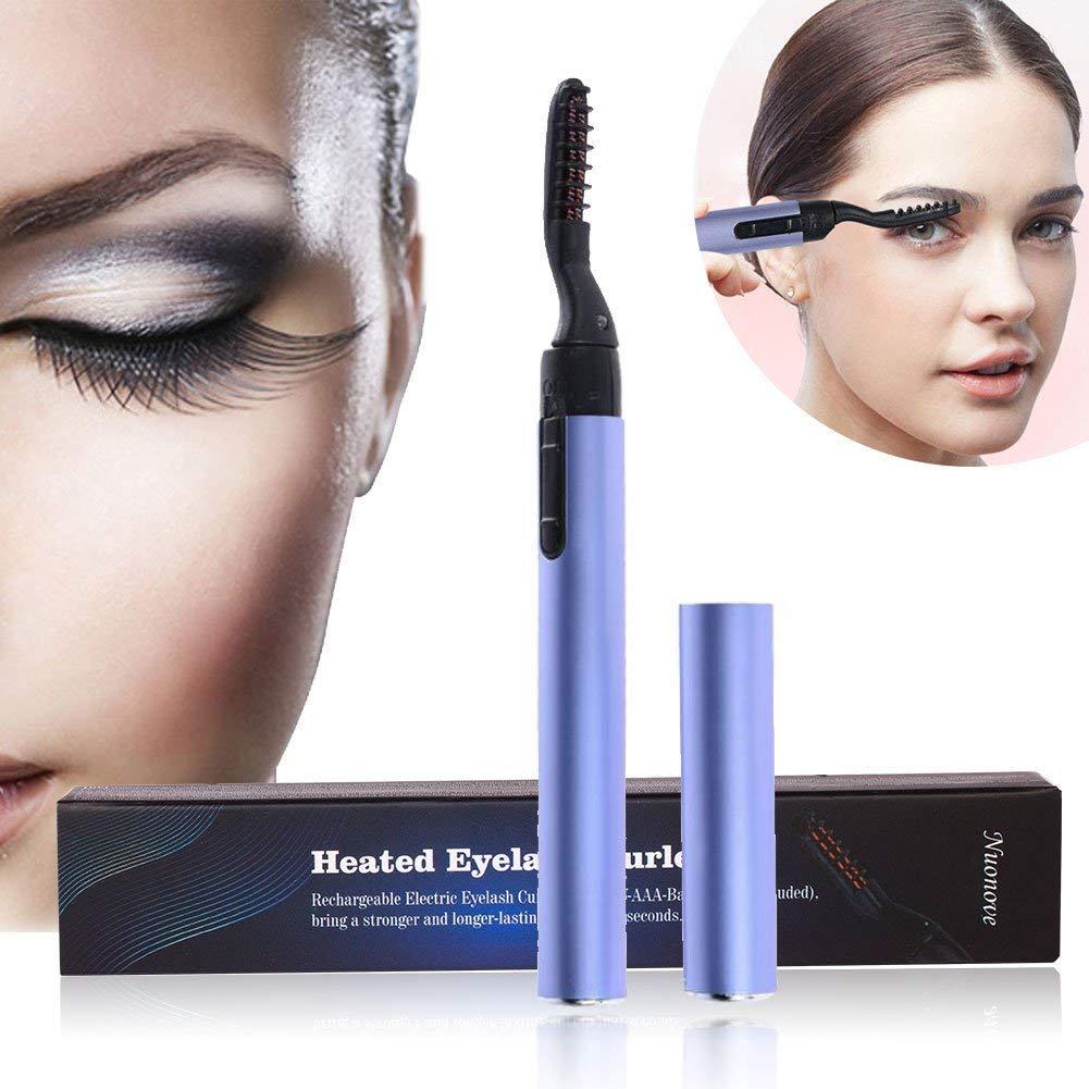 Heated Eyelash Curler Long Lasting Electric Eyelash Eyes Cosmetic(Four Packs)