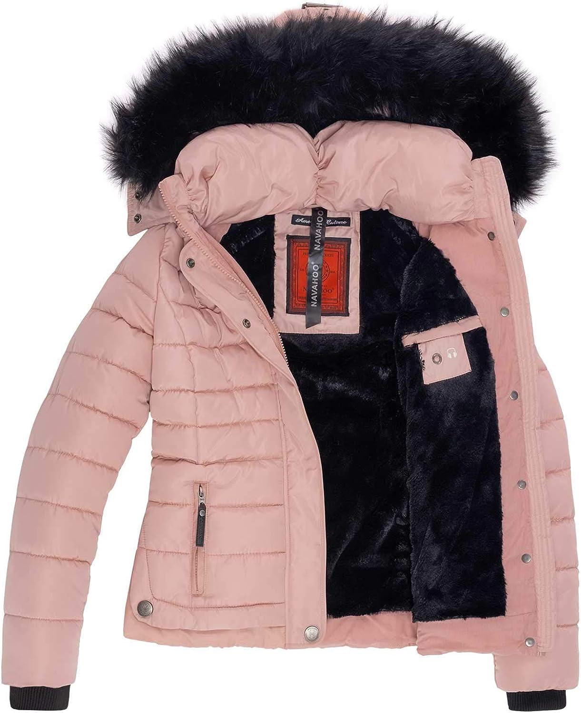 Giacca da Donna Designer Giacca Invernale Giacca Trapuntato Caldo rivestimento interno collo pelliccia d-96 NUOVO