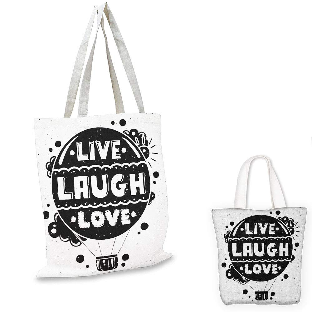 canvas messenger bag Live Laugh Love Abstract Grunge Graffiti Happiness Invoking Message Wall Art Design Blue Red Black bag organizer for tote