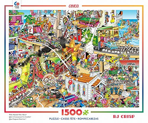 3401-27 Ceaco RJ Crisp 1500 Piece Who Started This Mess Puzzle
