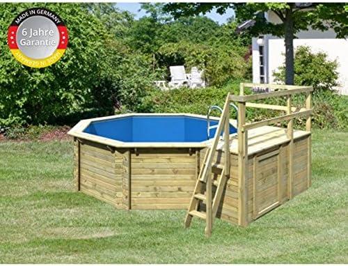 Paradies Pool GmbH Madera Pool 4, 00 x 1, 20 m, incluye sol Deck y ...