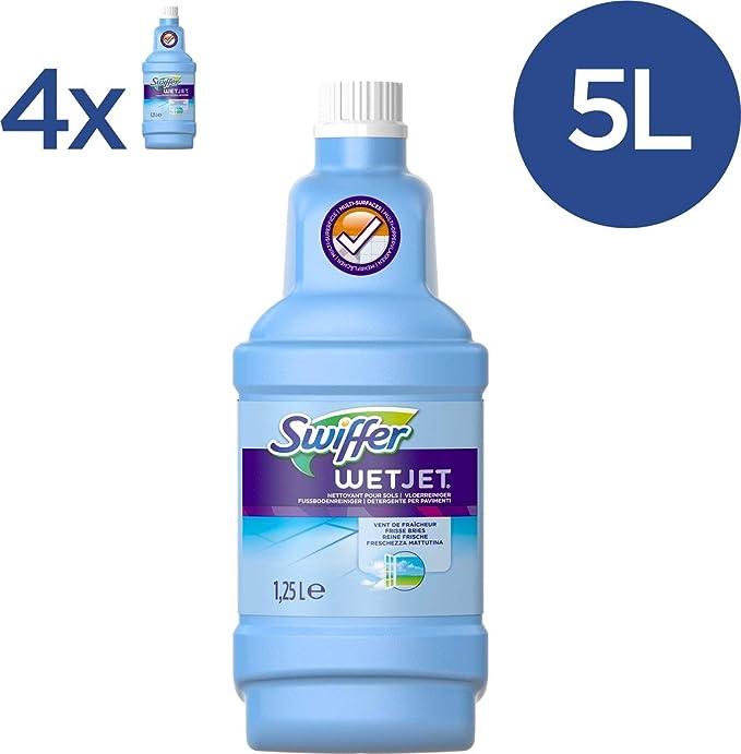 Swiffer Wetjet Solution Nettoyante Pour Balai Spray 125 L Lot De 4 5 L