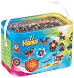 Hama Beads 10,000 Beads and 5 Pegboards Tub