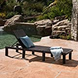 Great Deal Furniture Joyce Outdoor Multibrown Wicker Chaise Lounge without Cushion For Sale