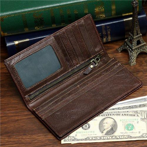 Vintage Cow Leather Wallets for Men Purse Case Card Holder Coach Wallet 8009-1c !