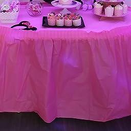 Unique Party- Falda de mesa de plástico, Color lavanda, 420 cm ...