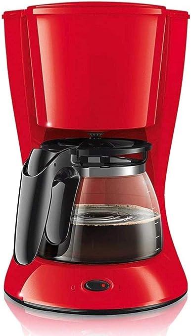 XIUYU Filtro de café de la máquina, 1000w, Anti-Goteo de diseño, Filtro extraíble y un Plato Caliente, Plato, 1,2 l de 10 Tazas, hierva Seca, Ahorro de energía roja: Amazon.es: Hogar
