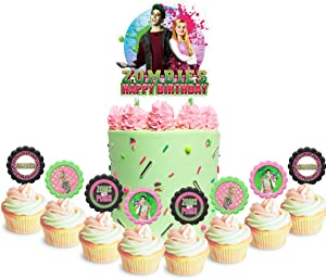 Party Decor for Zombies Cake Cupcake Toppers Movie Theme Birthday Supplies Favors Topper Decorations