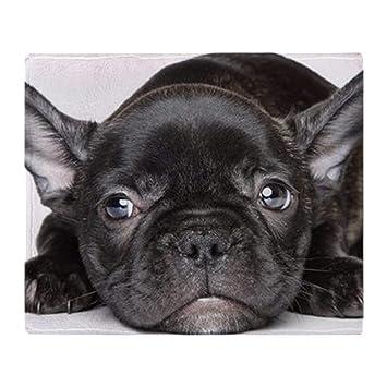 YISUMEI - Manta Polar Suave, Color Negro Bulldog francés, Apto para sofá o Cama