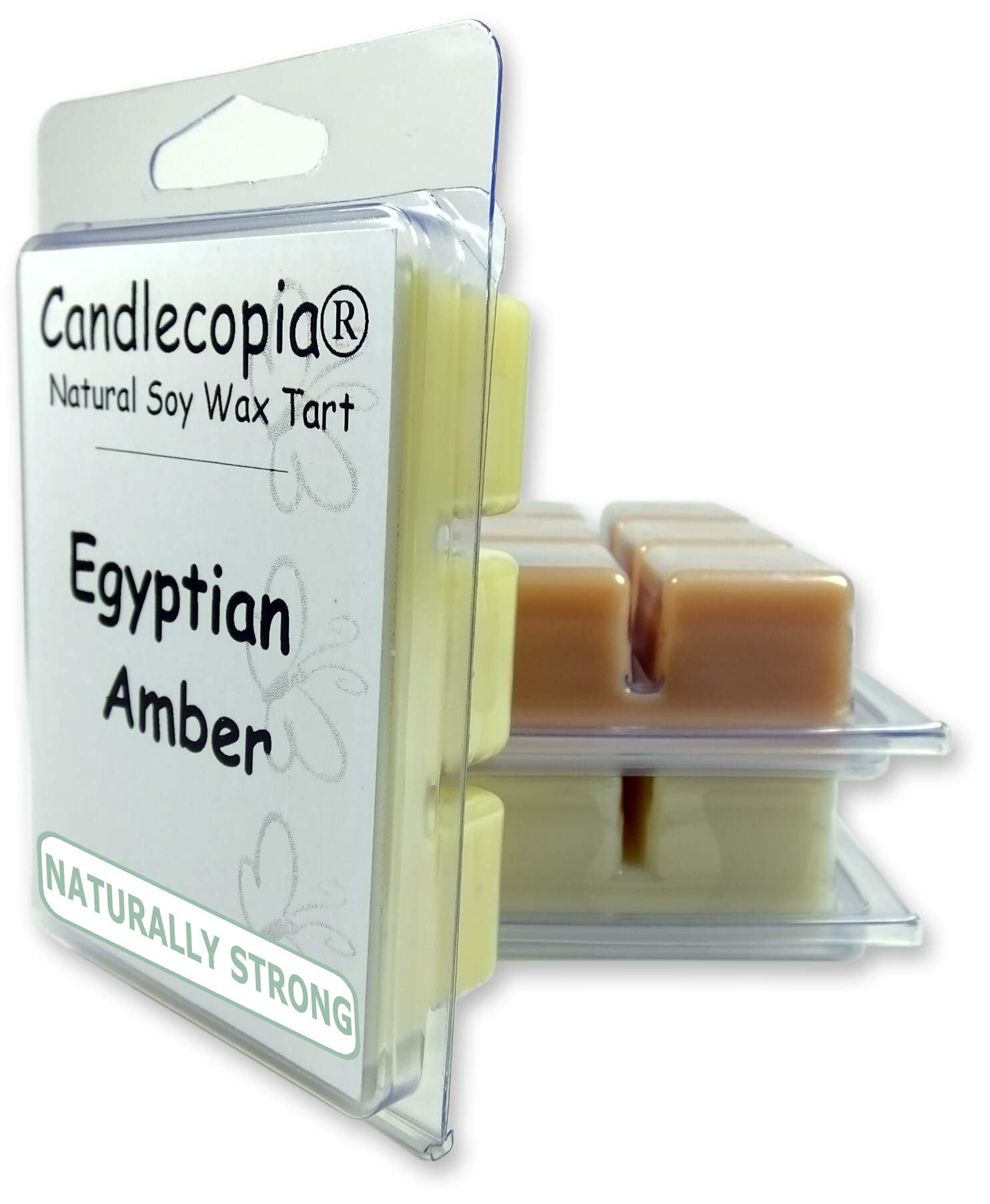 Candlecopia Sweet Patchouli, Indian Sandalwood and Egyptian Amber Strongly Scented Hand Poured Vegan Wax Melts, 18 Scented Wax Cubes, 9.6 Ounces in 3 x 6-Packs
