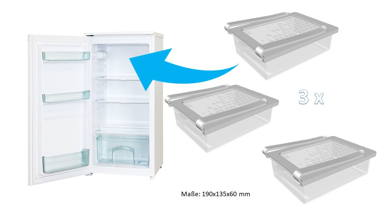 Kühlschrank Klemmschublade : Kühlschrank klemm schublade transparent amazon küche
