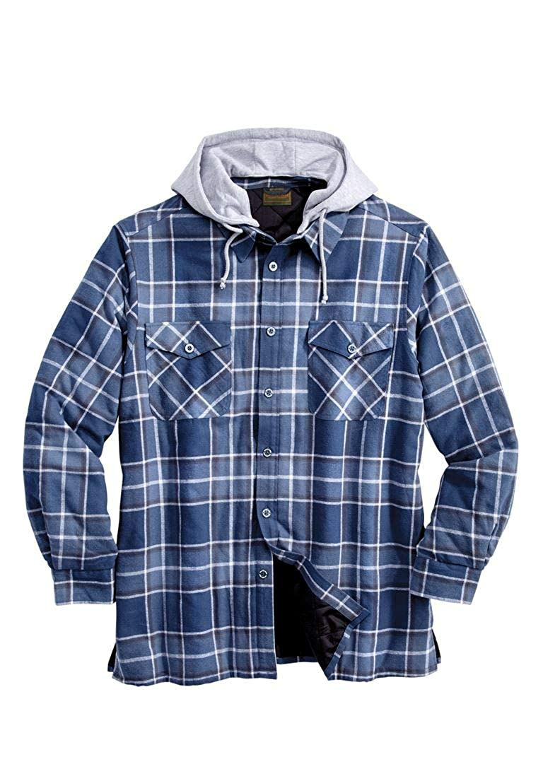 Boulder Creek Men's Big & Tall Removable Hood Shirt Jacket