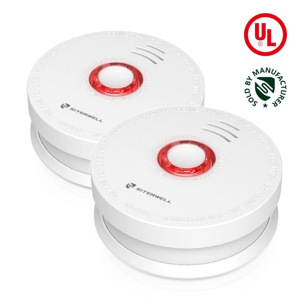 Amazon.com: Siterlink - Set de 2 detectores de humo y alarma ...