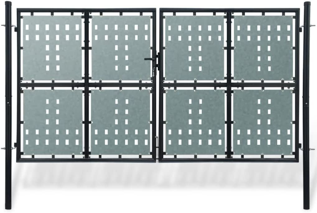 Cancela para valla doble negro 300 x 225 cm).Questo Libro del Cancela Sono robusto y seguro Cancela Jardín Nice Puerta Puerta Jardín Garaje Exterior: Amazon.es: Bricolaje y herramientas