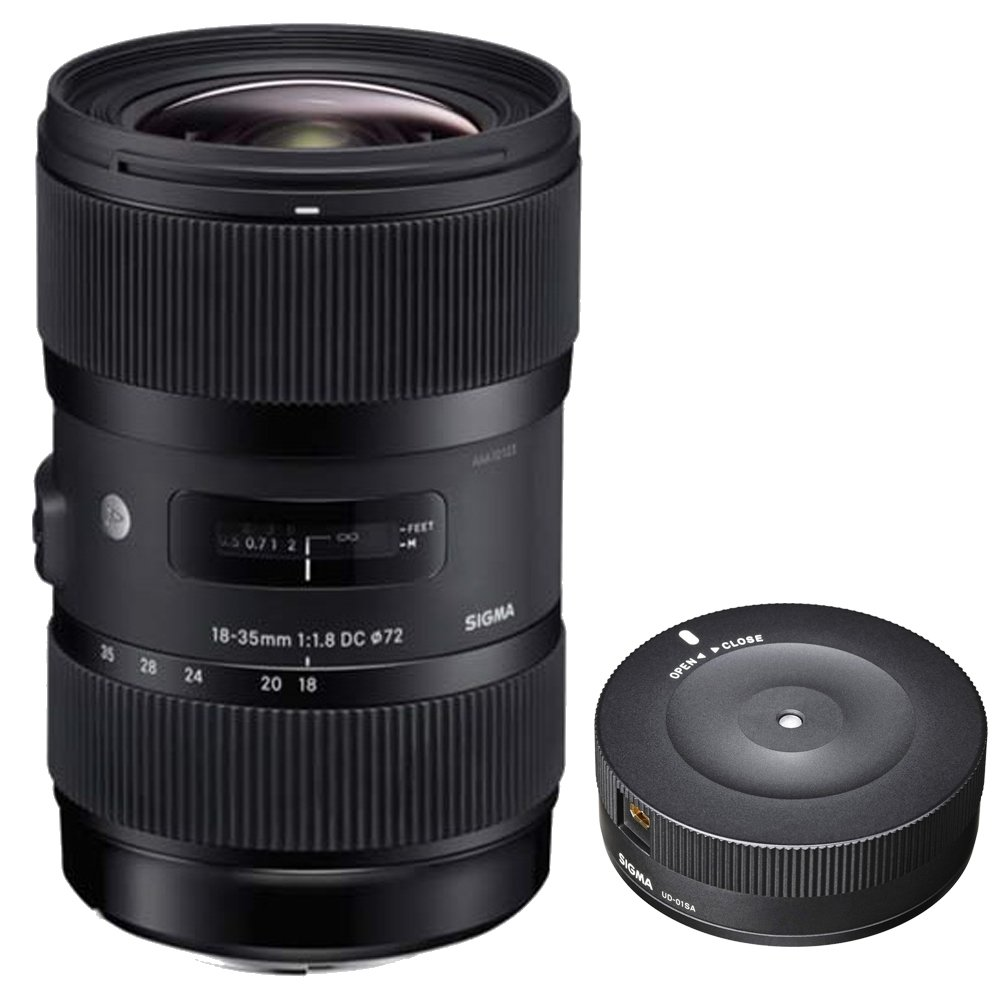 Sigma AF 18-35mm f/1.8 DC HSM Lens for Nikon with USB Dock for Nikon Lens