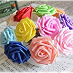 Ewandastore-50pcs-32-inch-Artificial-Foam-Rose-Flowers-DIY-Real-Touch-3D-Flower-Heads-with-Stem-for-Wedding-Party-s-Bridal-Shower-Favor-Centerpieces-Home-DecorationsPurple