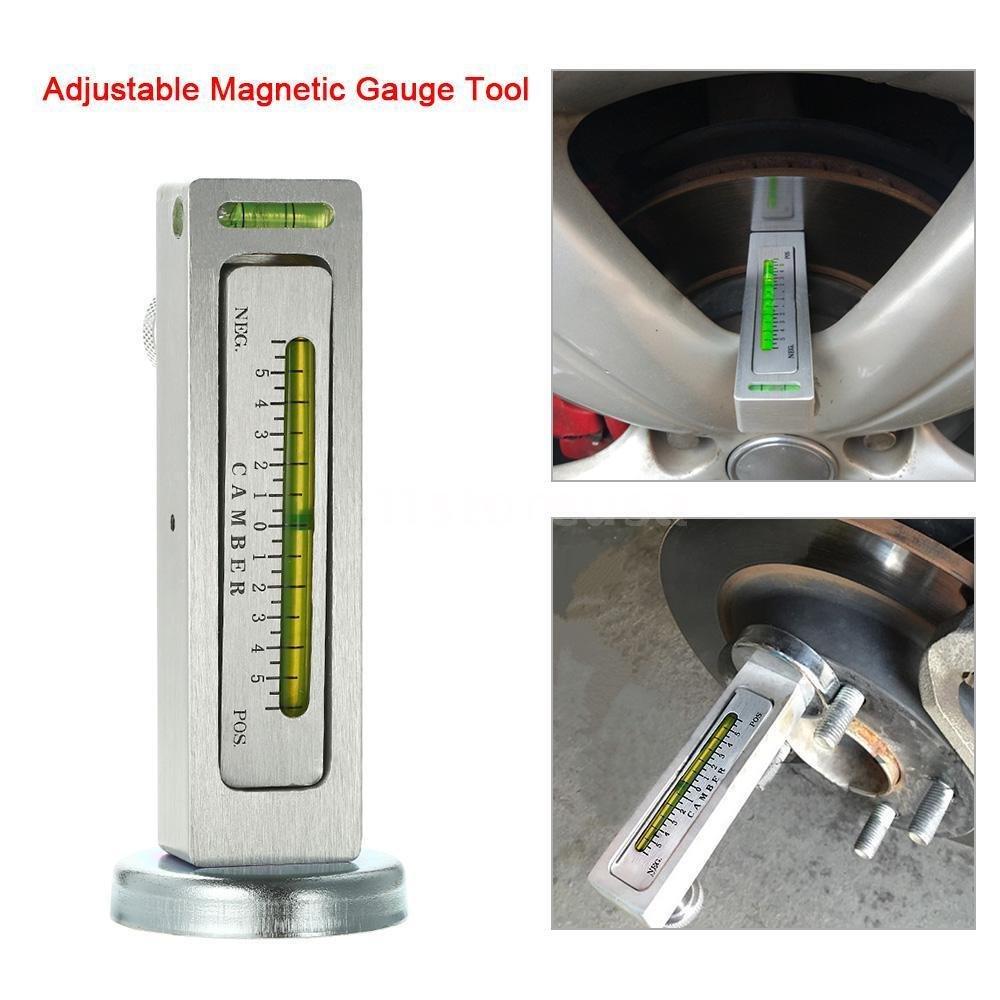 FidgetFidget Truck Adjustable Magnetic Gauge Tool Camber Castor Strut Wheel Alignment D9Z6