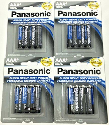 16pc Panasonic AAA Batteries Super Heavy Duty Power Carbon Zinc Triple A Battery 1.5v